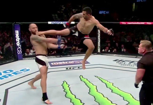 """Werdum explica confusão e comenta """"voadora"""" no UFC 203; reveja"""