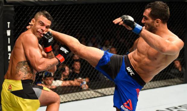 Vitor Belfort vs Gegard Mousasi. Photo: UFC