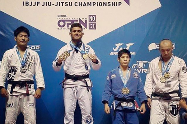 Rodrigo Caporal wins 4 golds at Seoul Open Internacional of Jiu-Jitsu