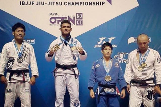 Rodrigo Caporal wins 4 golds at Seoul Open Internacional of Jiu-Jitsu