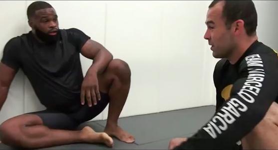 UFC champion Tyron Woodley trains BJJ with Marcelo Garcia