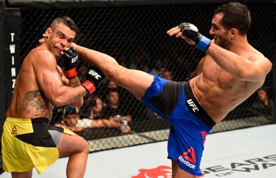 Belfort amargou sua segunda derrota seguida, no UFC do último sábado. Foto: Josh Hedges / Zuffa LLC via Getty Images