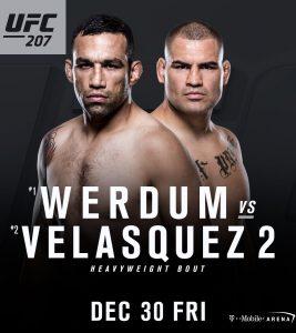 Banner que anuncia oficialmente a revanche entre Werdum e Velasquez. Foto: Reprodução