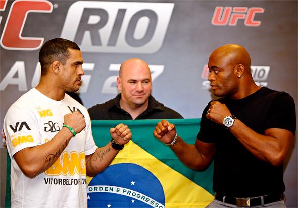 Uma revanche entre Belfort e o Aranha é esperada para os próxmos eventos no Brasil. Foto: Divulgação