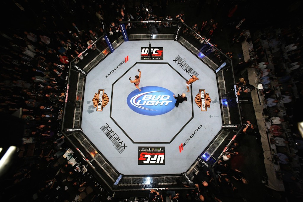 O octagon do UFC. Foto: Josh Hedges/UFC.