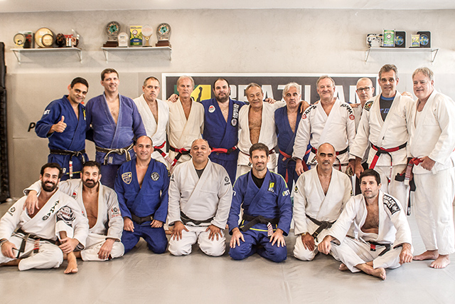 Murilo Bustamante gathers Carlson Gracie's old guard for graduation at charitable seminar