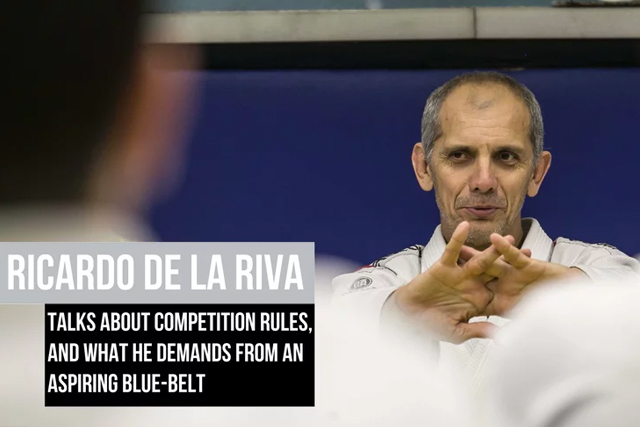 Ricardo de la Riva compares new and old BJJ rules, advises newcomers