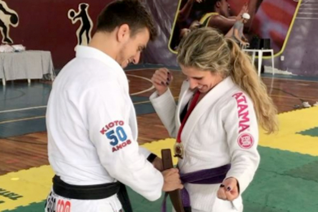 The day a BJJ teacher graduated his own mom to brown