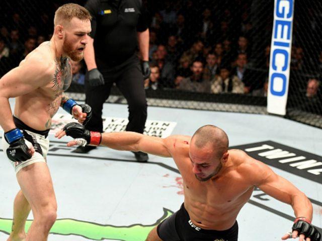 Conor McGregor def. Eddie Alvarez via TKO. UFC