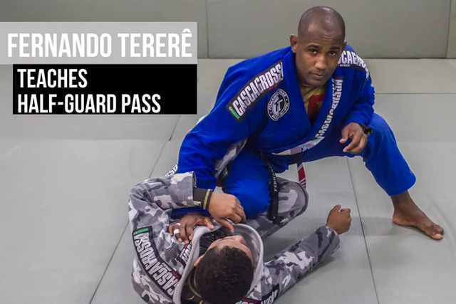 Fernando Tererê teaches a half-guard pass to get the side control