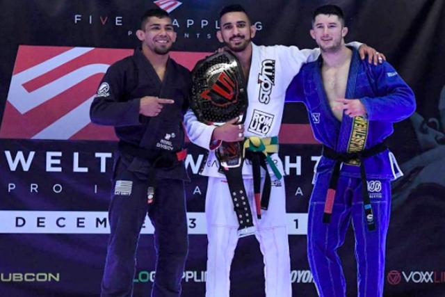Edwin Najmi beats 3 to win Five Grappling Super League welterweight belt