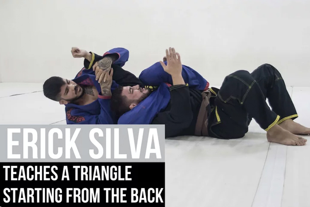 Erick Silva teaches how to apply a triangle starting from the back