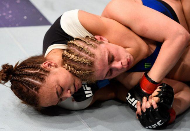 Jiu-Jitsu: A queda e o mata-leão que apagou Paige VanZant no UFC Sacramento