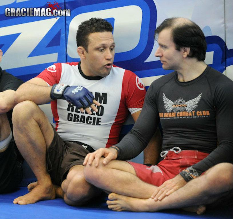 Renzo Gracie e seu faixa-preta John Danaher: estudo constante do Jiu-Jitsu. Foto: Luca Atalla