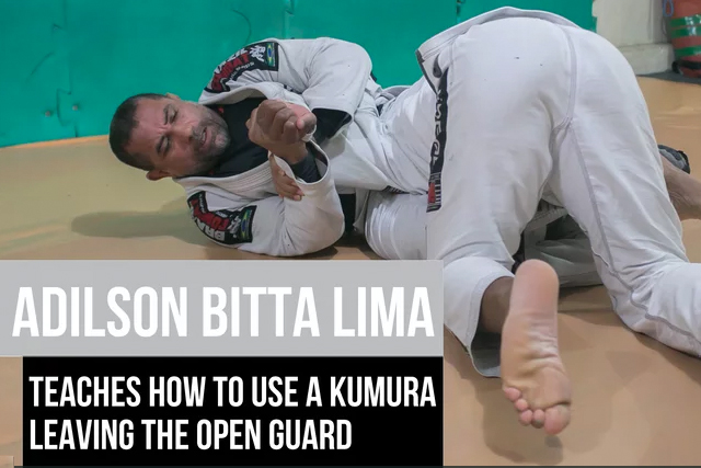 Learn a kimura attack from the open guard