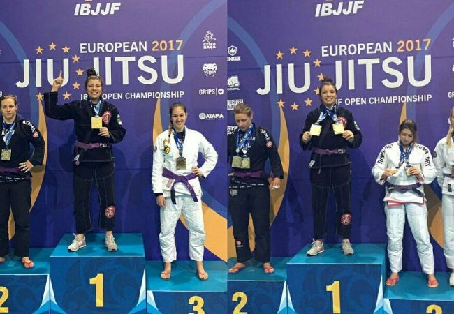 2017 Euro: Izadora double gold at purple; Luzimery shines in the blue belt absolute