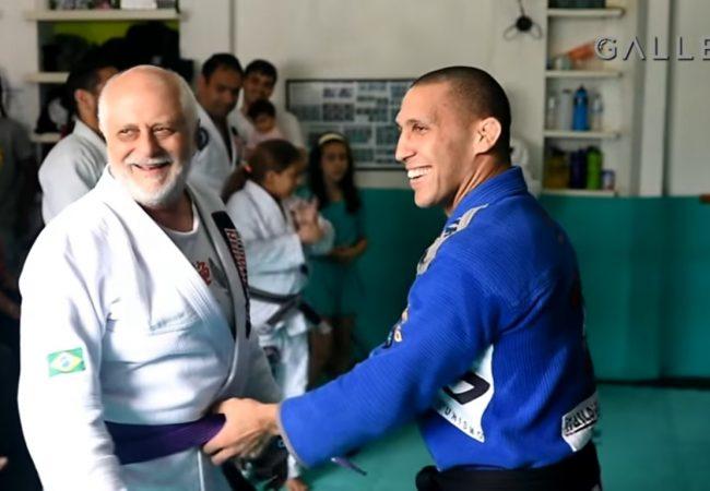 Vídeo: Faixa-roxa aos 73 anos, seu Narciso fala da alegria de lutar Jiu-Jitsu com filho