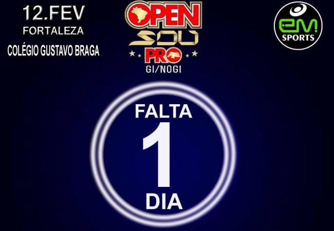 Última chamada para o Open SOU Pro GI e No GI no Ceará