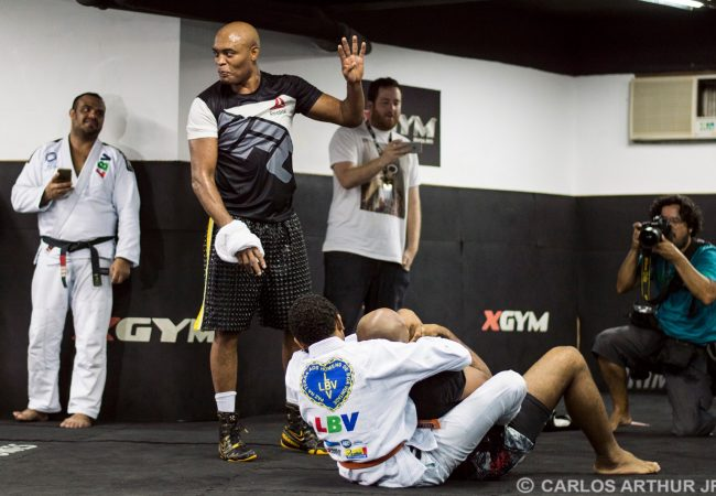 Watch Anderson Silva realize an old dream: to be a BJJ ref