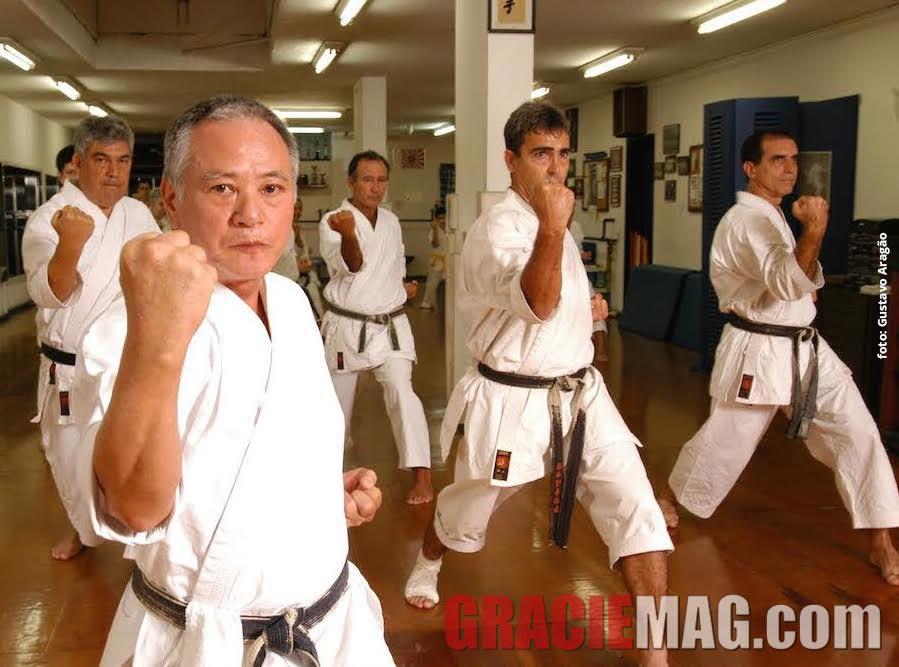 Mestre Inoki: referência do karatê tradicional japonês. Foto: Gustavo Aragão