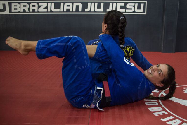 "Learn how to apply the ""RNC from the omoplata,"" with Mackenzie Dern"