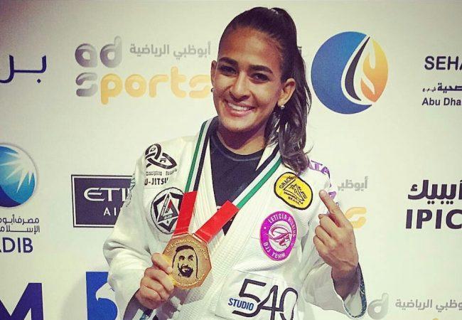 Beatriz Mesquita celebrates her success at Abu Dhabi World Pro