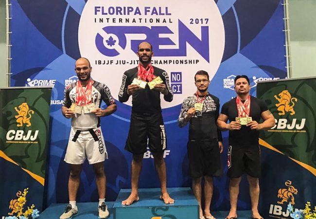 Erberth Santos vence sem kimono e fatura quatro ouros no Floripa Open de Jiu-Jitsu