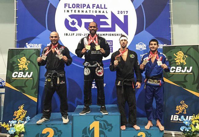 Erberth Santos fatura peso e absoluto no Floripa Open de Jiu-Jitsu