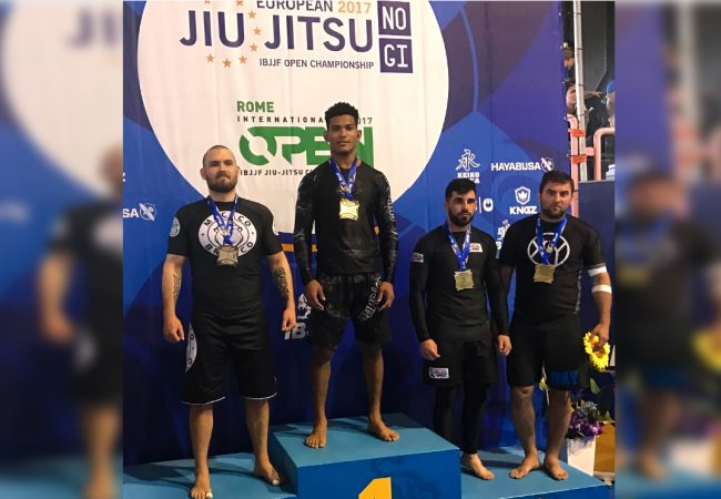 Mahamed Aly, Monique Carvalho win double gold at Euro No-Gi Championship
