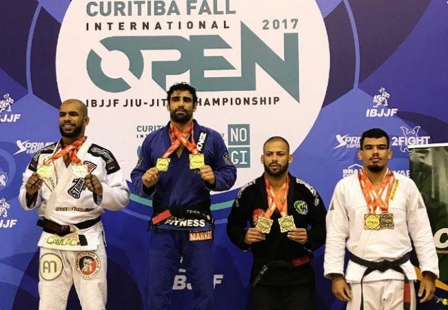 Leandro Lo e Bia Basílio faturam ouro duplo no Curitiba Open de Jiu-Jitsu