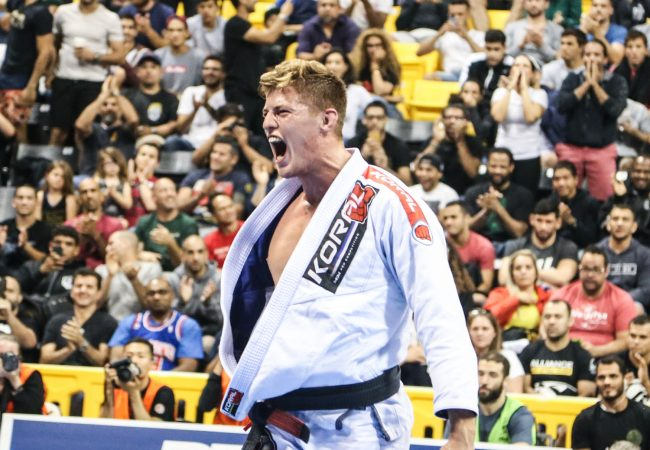 Nicholas Meregali on debuting at black belt with a world title