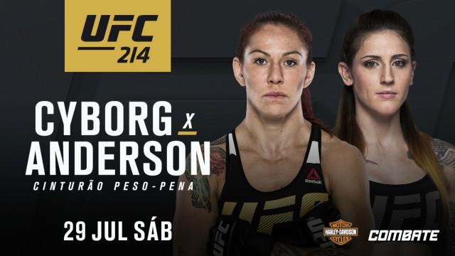 Será Megan Anderson um obstáculo entre Cris Cyborg e o cinturão do UFC 214?