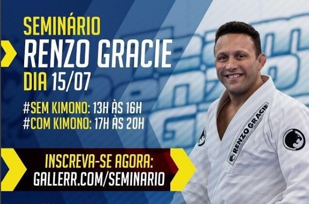 Aprenda Jiu-Jitsu com Renzo Gracie em seminário exclusivo no Rio de Janeiro