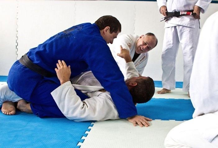 Roger e Mauricao em seminario do craque Gracie no Rio Foto Gustavo Aragao