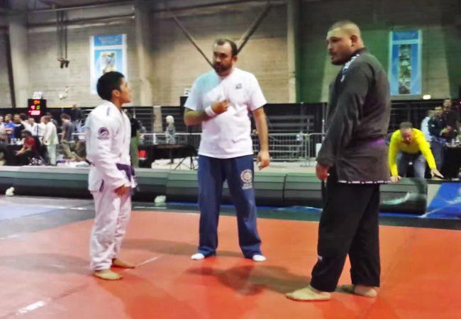 Watch David beat Goliath in BJJ