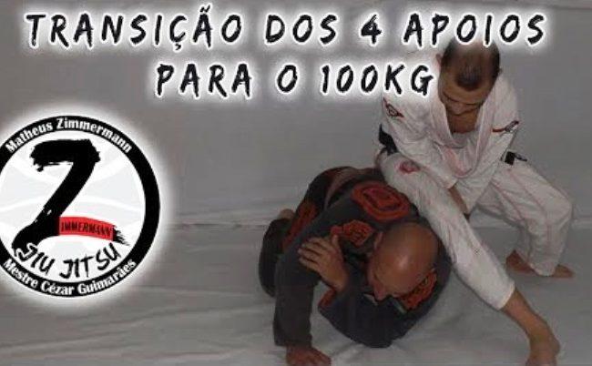 Jiu-Jitsu: Matheus Zimmermann ensina transição do quatro apoios para o cem-quilos