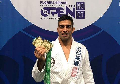Guto Campos: 6 lutas, 6 finalizações e ouro duplo no Floripa Open de Jiu-Jitsu