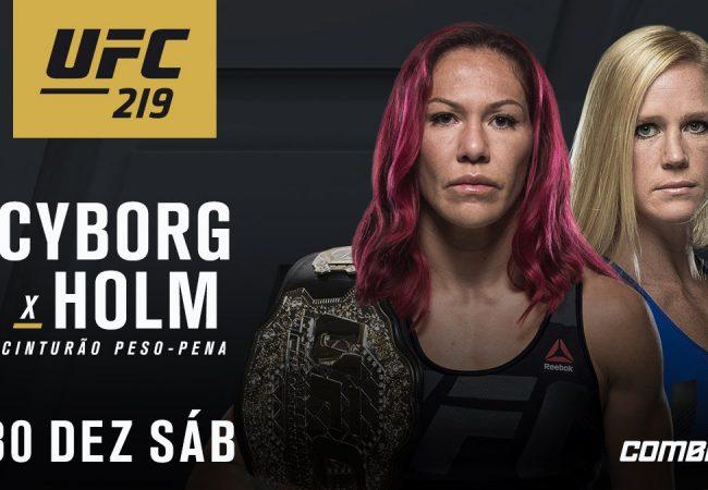 Confirmado: Cris Cyborg encara Holly Holm no UFC 219, em dezembro