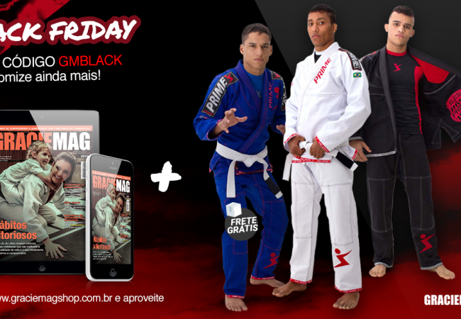 Black Friday na GRACIEMAG! GM Digital 12 meses + Kimono Prime Shield por R$ 199!