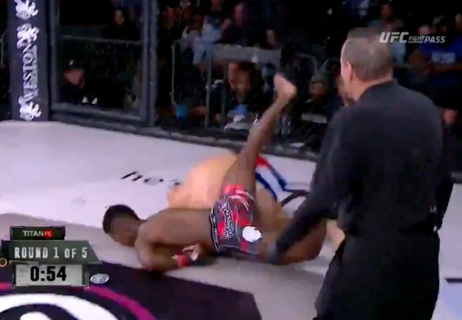 Again: Fighter employs BJJ takedown for a KO in MMA