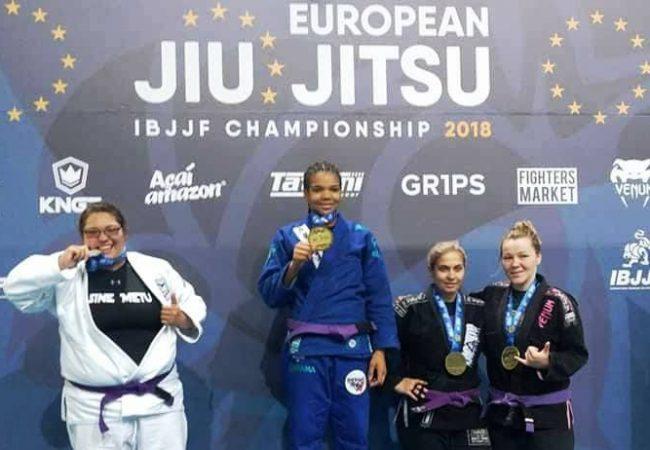 Gabi Pessanha, Thalison Soares e mais ouros na faixa-roxa e azul no Europeu de Jiu-Jitsu 2018
