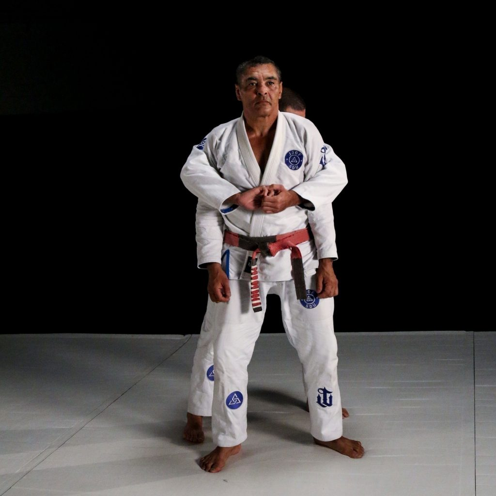 Rickson Gracie — a defense to an over-the-arm rear attack ...