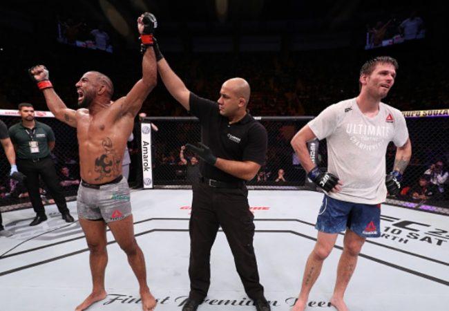 """Vídeo: Serginho Moraes vence e saúda """"deuses do Jiu-Jitsu"""" no UFC Belém"""