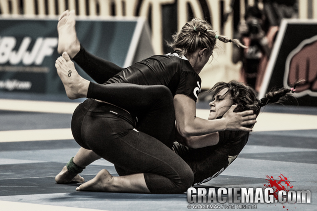 Michelle Nicolini's golden foot lock at the No-Gi Euros