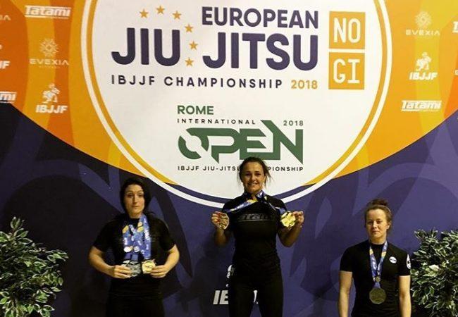 Nicolini and Liera Jr. win double gold at No-Gi Euros