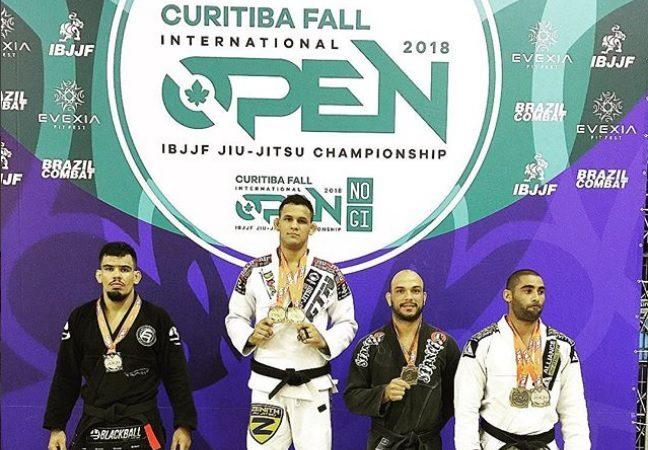 Fellipe Andrew, Henrique Russi, Cranivata e Mansur brilham no Curitiba Open de Jiu-Jitsu