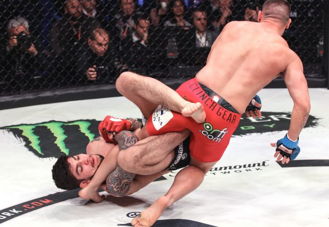 Neiman Gracie's, Rafael Lovato's and Dillon Danis's finishes at Bellator 198