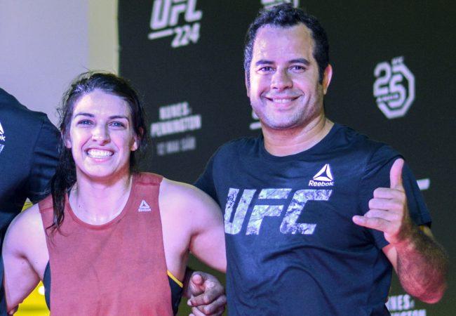 Vídeo: Mackenzie Dern treina com Leozinho Vieira antes do UFC 224, no Rio