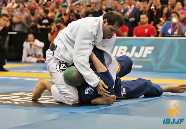 Roger Gracie — switching from a kimura to a choke