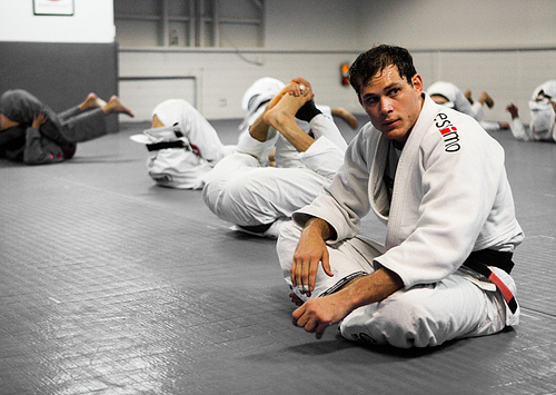 Sweep foiled? Roger Gracie teaches a kimura counter-attack